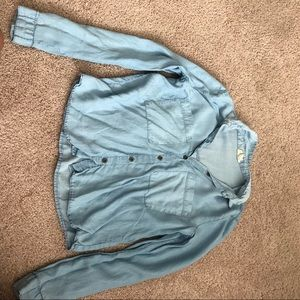 LA Hearts XS Blue denim shirt (faux denim)